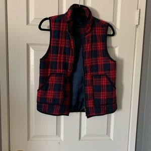 Jackets & Blazers - Flannel-print vest with soft lining